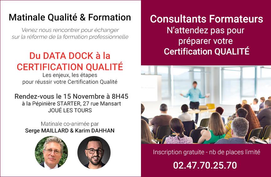 Matinale Formateur Certification Qualité